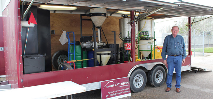 Mobile biodiesel processing trailer.